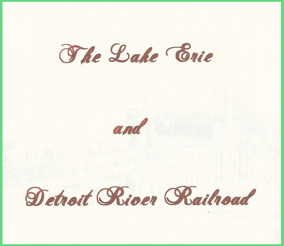 Lake Erie and Detroit Railroad DVD cover
